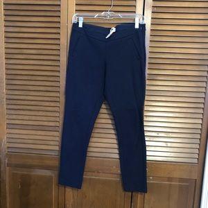 Navy skinny knit pant